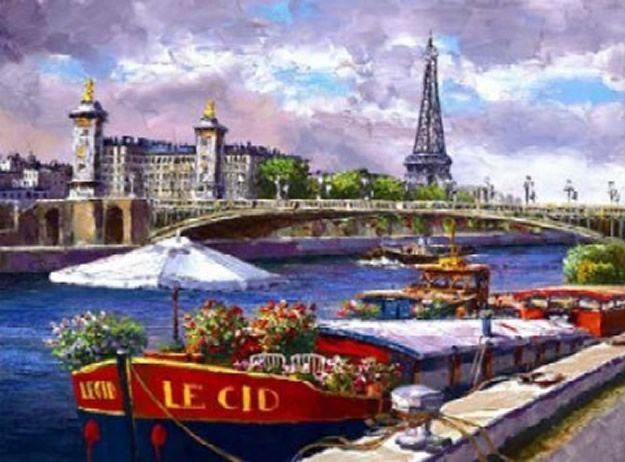 Along The Seine  \\ artist- Sung Sam Park