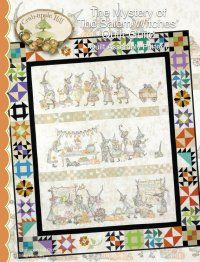 """We have the entire series of the """"Mystery of the Salem Witches' Quilt Guild"""" from Crabapple Hill. It's the hottest thing going right now! We have floss and fabric packs to help you complete the project too."""