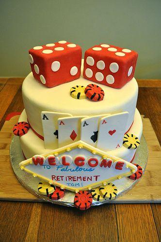 Vegas Retirement Cake - great birthday cake too!