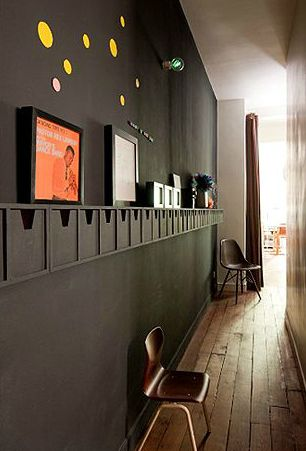 a great (and functional) way to make use of a narrow hallway