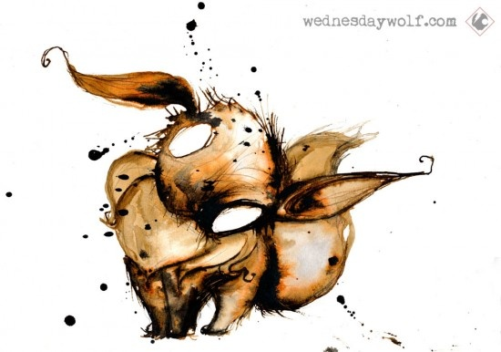 Pokémon Watercolors: EeveeNo133 Eeve, Favorite Artists, Wednesdaywolf, Pokemon, Geek Art, Videos Games, Artists Inspiration, Wednesday Wolf, Watercolors Art