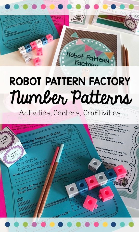 A great addition to your Number Patterns and Patterning Unit in second, third, or fourth grade.  Included are activities, student worksheets, Math centers and 2 adorable craftivities PLUS my conference mat and assessment checklist- perfect for end of the unit assessment of learning!  Your students will love the Robot theme!