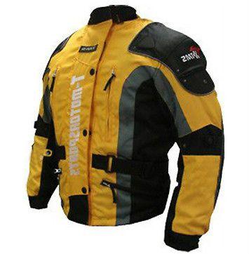 Mens Motorcycle ARMOR Jacket Motorcycle Enduro Touring Dual Sport ATV MX Yellow