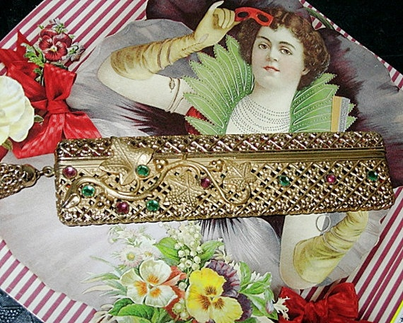 Vintage 50s Gold Metal Hair Comb and Case with by @BettesBargains, $30.00