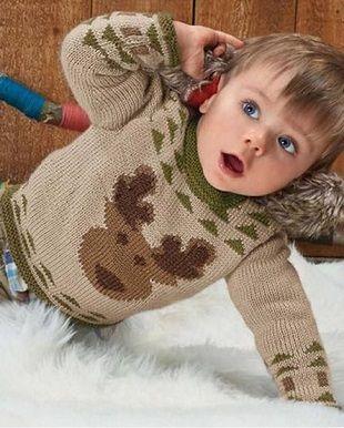 Herten patroon trui voor