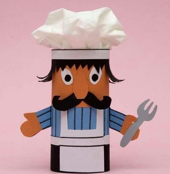 Tuvalet kağıdı rulosundan aşçı