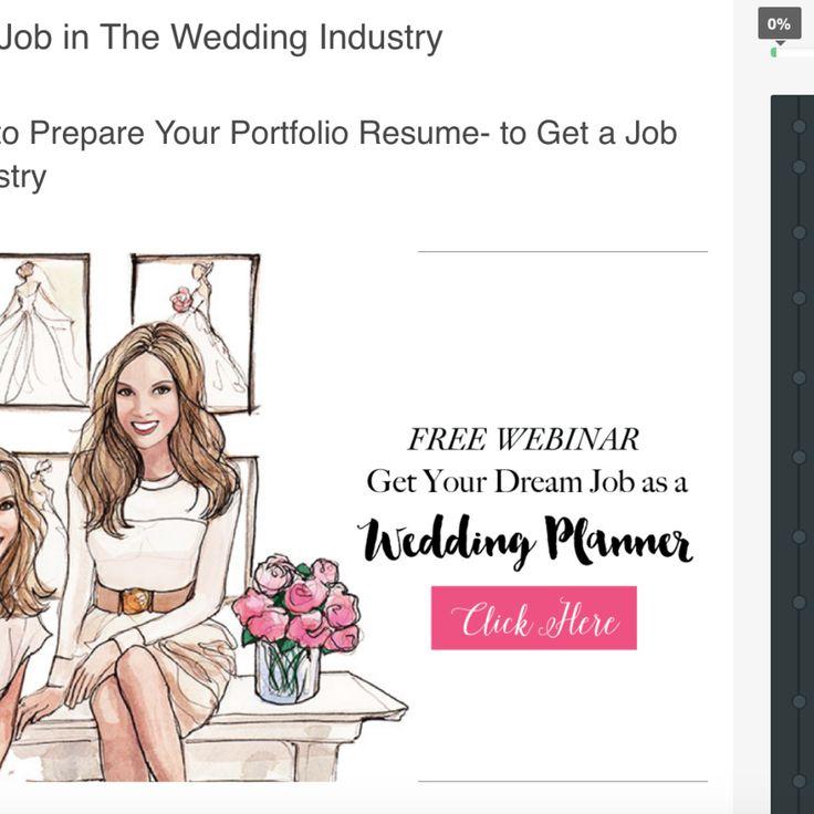 25+ Best Ideas About Wedding Planner Jobs On Pinterest