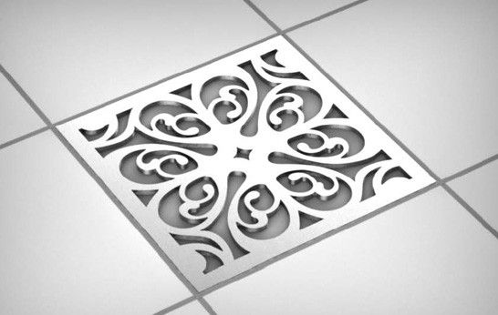 These make the shower drain lovely to look at.
