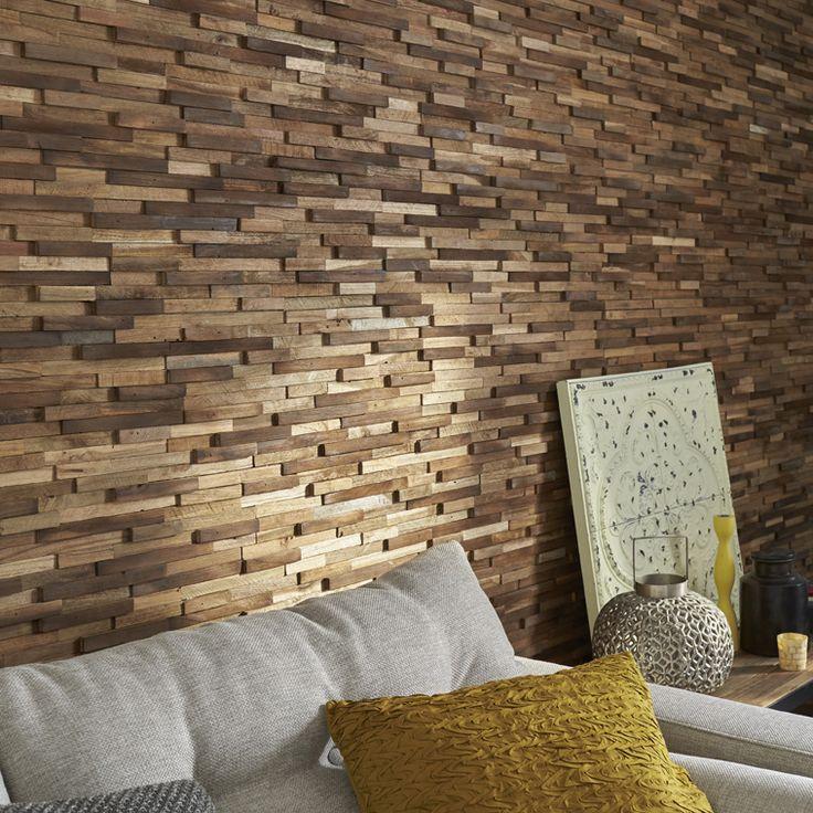 Plaquette de parement bois recyclé Boho. #homedecor #ideedeco #mur