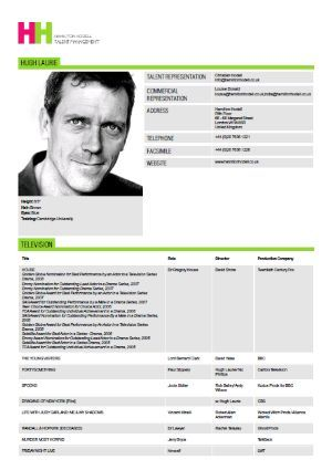 32 Brilliant Celebrity And Celebrity Wannabe Actorsu0027 Resumes  Actors Resume Template