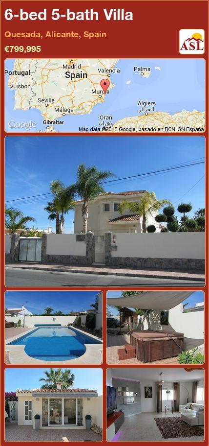 6-bed 5-bath Villa in Quesada, Alicante, Spain ►€799,995 #PropertyForSaleInSpain