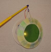 paper plate lantern (I bet we could do a better job decorating it) Paint it, shape stickers for the little ones, contact paper with tissue paper hole punch circles, fall leaves, so many ideas...