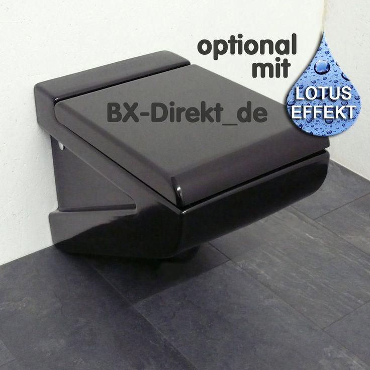 WC Schwarz auch mit Softclose Nano Effekt Oberfläche Lotuseffekt schwarzes Klo