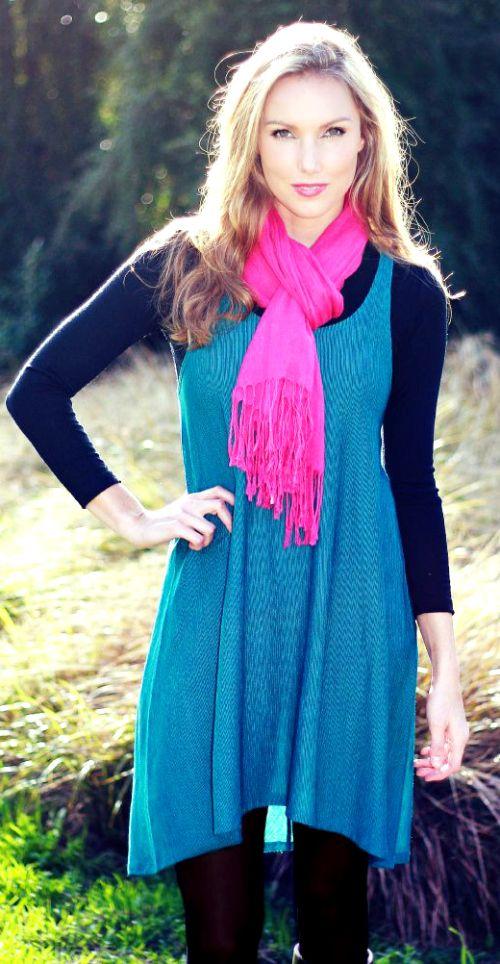 Tava Swing Merino Blend Dress