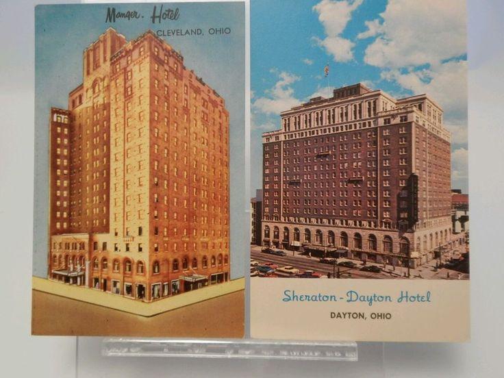 Vintage Postcard Manger Hotel Cleveland Ohio Sheraton Dayton Hotel          (A5)