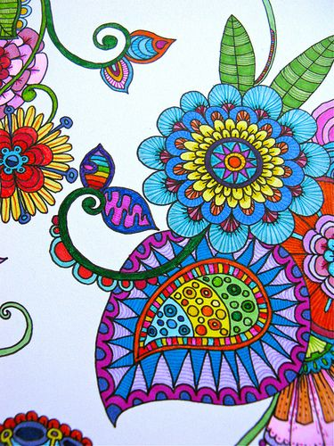 paisley... This is so pretty... One day I am going to draw something like this! :)