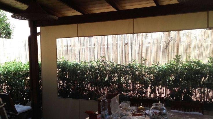 tenda da sole in Crystal e acrilico per veranda e con movimento a manovella