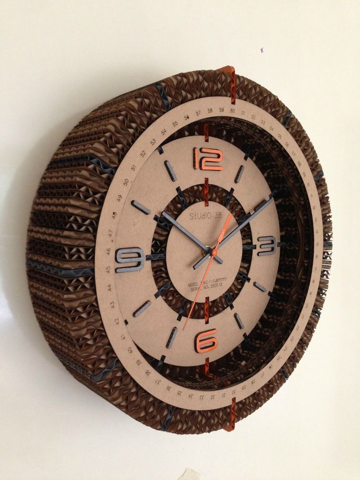 Cardboard Clock by Studio-38