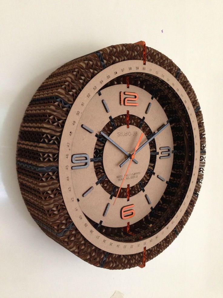 Cardboard Clock by Studio-38