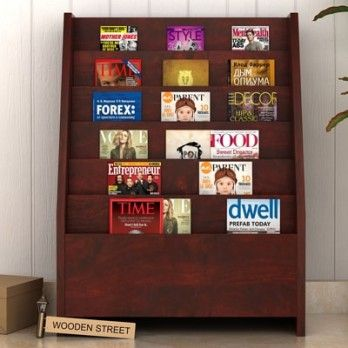 Buy #Alder #Magazine #Rack (Mahogany Finish) online in India at reasonable prices from Wooden Street. Browse our extensive collection of wooden magazine racks online that comes in variety of designs and sizes. Visit : https://www.woodenstreet.com/magazine-rack