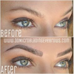 3D Microblading Eyebrows by wwww.3DMicrobladingEyebrows.com double certified artist.