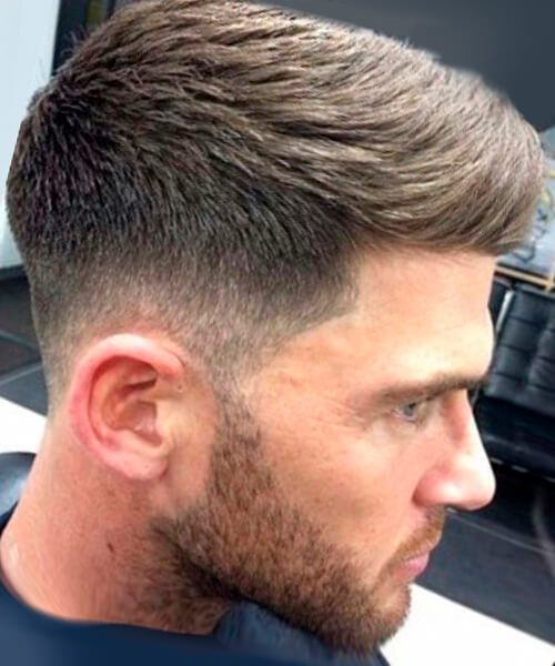 Mid-high fade haircutpsd for men