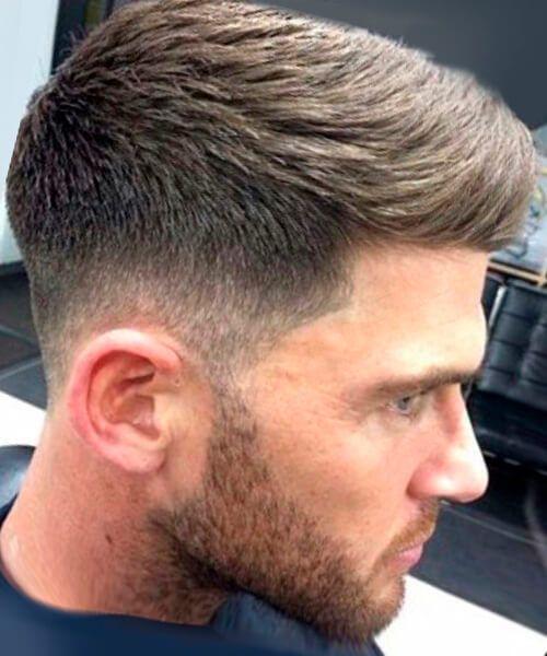 Mid-high fade haircutpsd for men