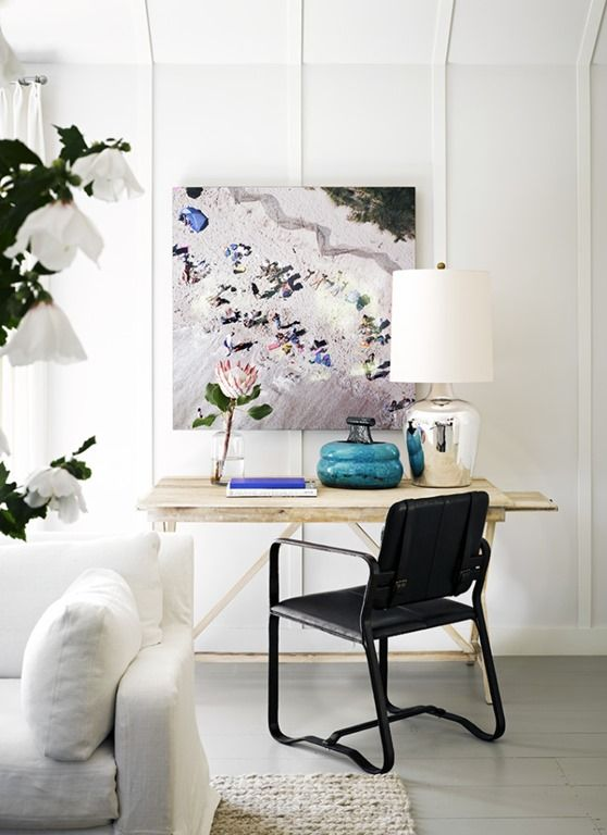 Interior by Jeffrey Alan Marks: Desks Area, Living Rooms, Jeffrey Alan, Minis Offices, Interiors Design, Work Spaces, Beaches Houses, Alan Mark, Home Offices
