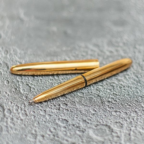 Bullet Space Pen - Raw Brass - Australia - The Bullet Space Pen is compact and perfect for everyday carry. Open it up and it becomes a full sized, evenly balanced writing instrument. It's made from all brass and available in a range of different finishes.  This version has been left in raw brass, a material that will create a unique patina as it ages. You can polish it with brass cleaner or leave as is.