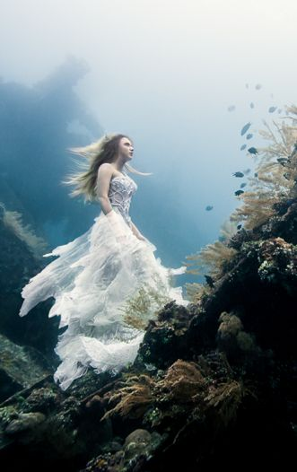 A Surreal Photoshoot on an Underwater Shipwreck in Bali by Christopher Jobson