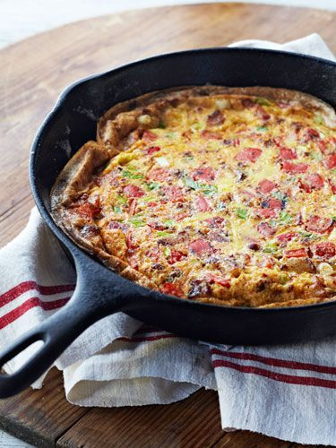 Curtis Stone's easy weeknight meals: Potato and bacon frittata. Get the recipe — and three more at http://www.redbookmag.com/recipes-home/tips-advice/curtis-stone-recipes