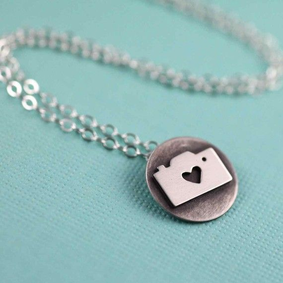 tiny camera love token necklace--love this!