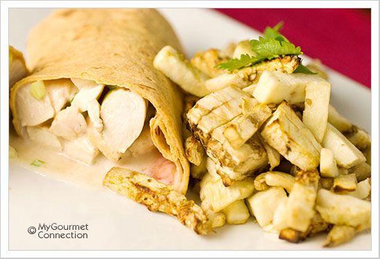 Tandoori Turkey Wraps_ Turkey breast cutlets seasoned with cumin ...