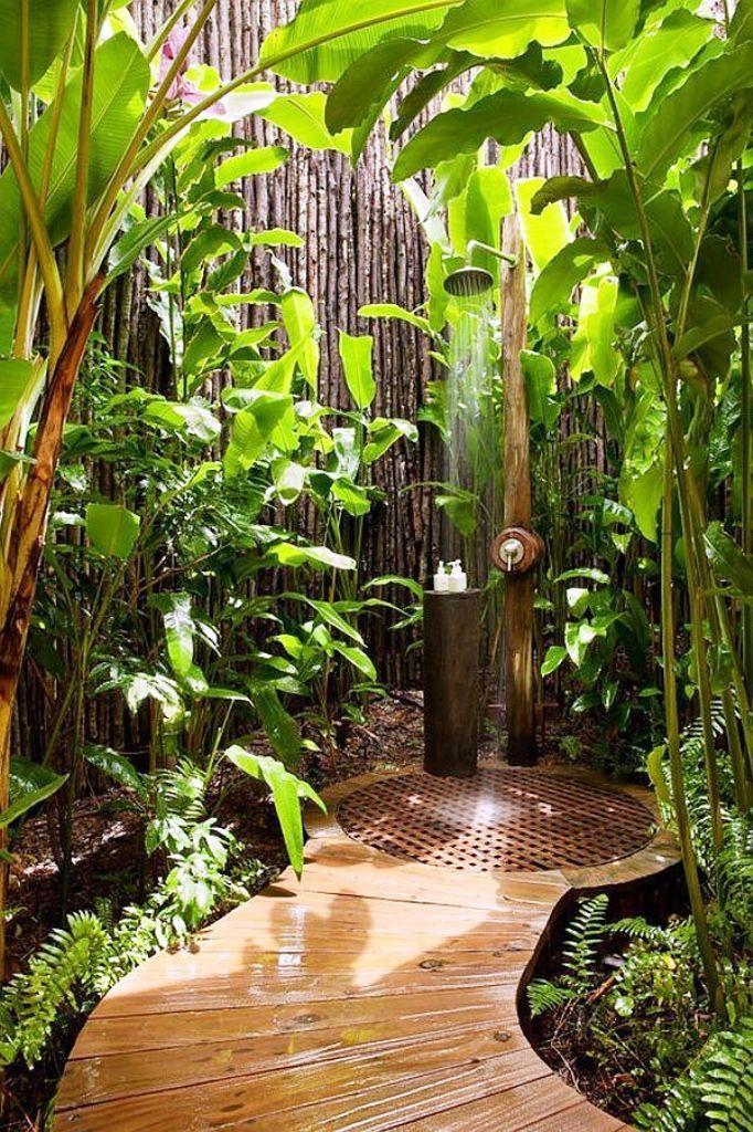 25 Luxuriöse Dusche Im Freien Zu Bleiben, Entspannt Und Frisch
