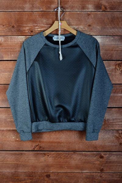 Faux Leather Baseball Sweatshirt, street style winter 2014, boutique shopping, fashion, style fall fashion www.tessandkate.ca
