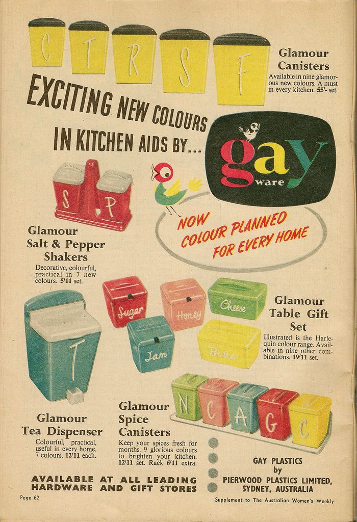 Gayware, 1950s kitchen kitch at its finest!