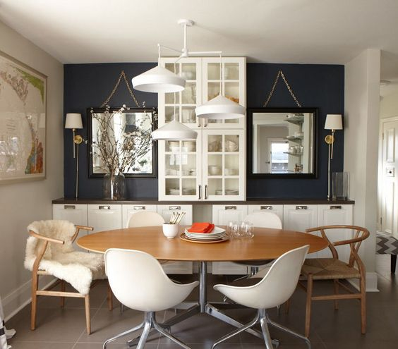 My fav--#30 for color. Create an inviting space that'll work for a party of twenty or dinner for two. Here, we've curated dozens of ideas for a comfortable, functional dining room.