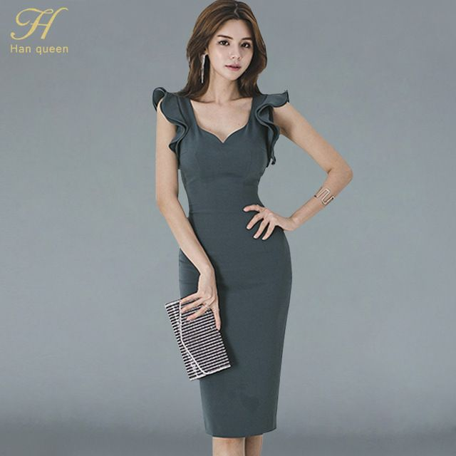 22194b00dff06 H Han Queen new summer For women Vintage #Sexy v-neck sleeveless ...