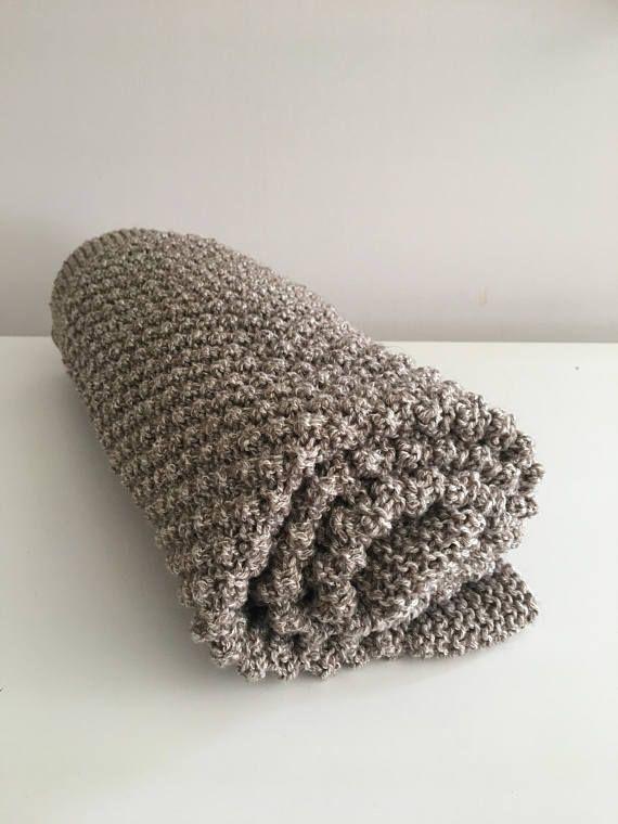 Hand knit popcorn baby blanket, pram blanket, cot blanket, bassinet blanket, lap blanket
