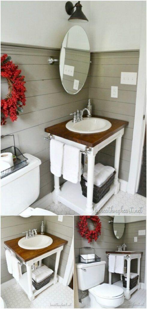 bathroom cabinet online design tool%0A    Creative DIY Bathroom Vanities   Diy bathroom vanity  Bathroom vanities  and Vanities