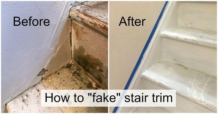 DIY Stair Trim – Como adicionar uma saia da escada do falso   – ideas for stairs