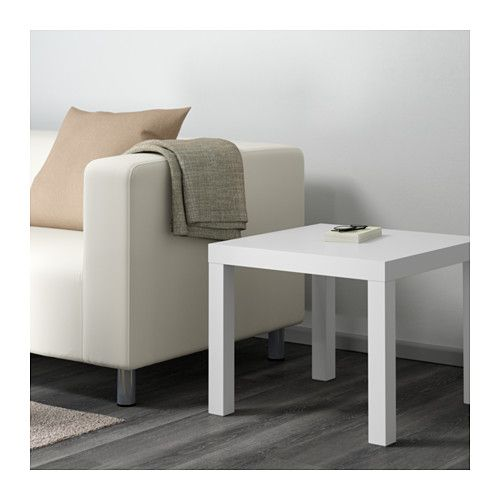 "LACK Side table - white, 21 5/8x21 5/8 "" - IKEA use 3 to make a long coffee table"