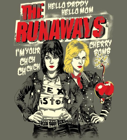 The Runaways t-shirt - #Reverbcity - http://www.reverbcity.com/