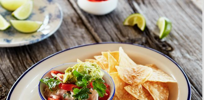 ... Avocado, and Crispy Tortilla Chips | Recipe | Ceviche, Tortilla Chips
