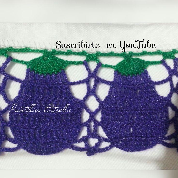 17 mejores ideas sobre orillas de puntos de cruz en - Esquema punto estrella crochet ...
