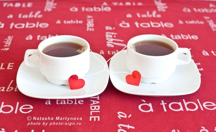 valentine's day, red, cups, tea, love, heart, red, holiday