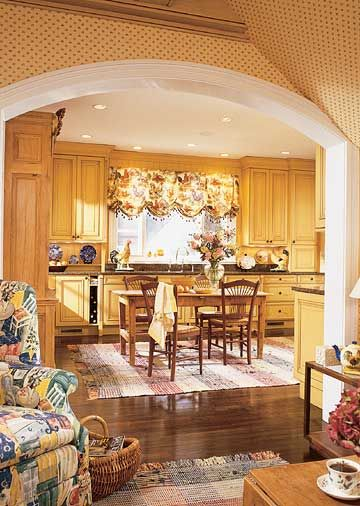 An 8 Foot Wide Archway Makes The Two Rooms Feel