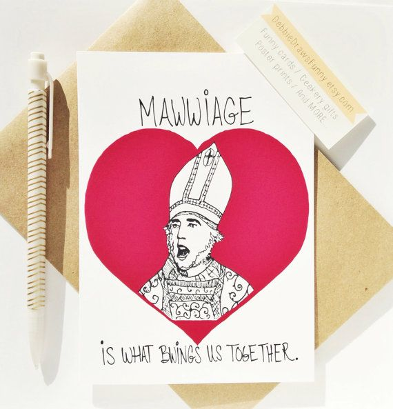 Princess Bride Card Funny Anniversary Cards Mawwaige Funny Wedding I love you cards for fiancé husband wife parents mom dad anniversary card  Ah