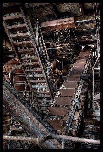 Conveyor Belt and Steps at Coal Breaker Plant | Flickr - Photo Sharing!