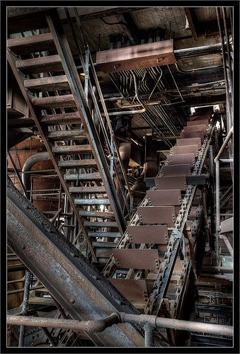 Conveyor Belt and Steps at Coal Breaker Plant   Flickr - Photo Sharing!